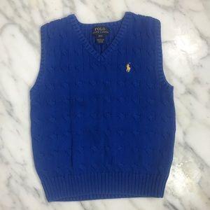 Ralph Lauren Sweater Vest, Blue, Boys Sz 4T